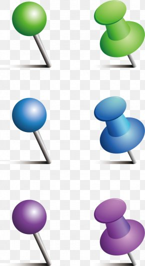Push Pin Vector Material - Drawing Pin Stationery PNG