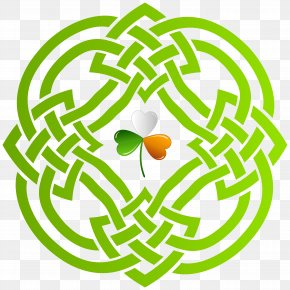 Celtic Knot And Irish Shamrock Transparent Clip Art Image - Celtic Knot Celts Triquetra Clip Art PNG