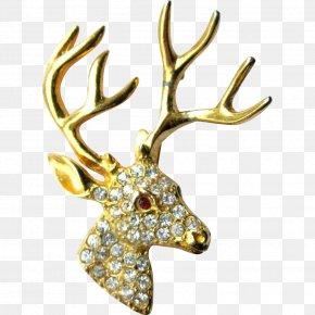 Reindeer - Brooch Reindeer Earring Jewellery Costume Jewelry PNG