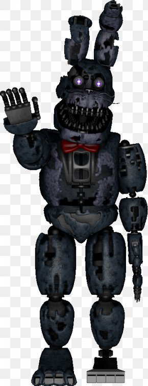 Freddie - Five Nights At Freddy's 4 Nightmare Human Body Robot Art PNG