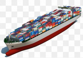 Container Large Cargo Ship - Intermodal Container Cargo Ship Container Ship PNG