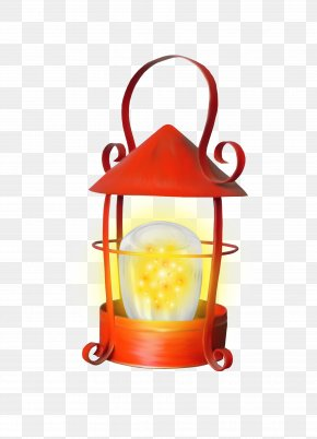 Red Lamps - Fanous Lamp Light Fixture PNG