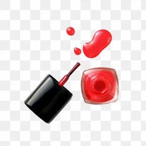 Red Nail Polish - Hawaiian Nail Bar Nail Polish Beauty Parlour Nail Salon PNG