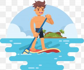 Surfing Summer Activities - Sport Clip Art PNG