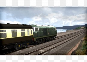 Train - Railroad Car Rail Transport Train Passenger Car Track PNG