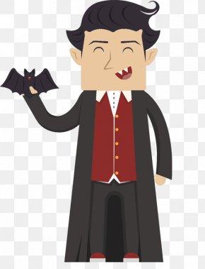 Cartoon Vampire - Cartoon Vampire Illustration PNG