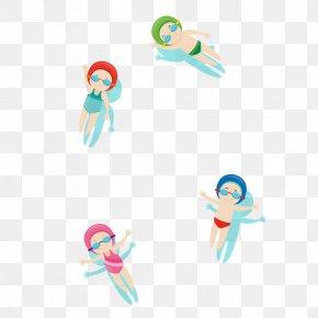 Cartoon Swimming Material - Swimming Cartoon Clip Art PNG