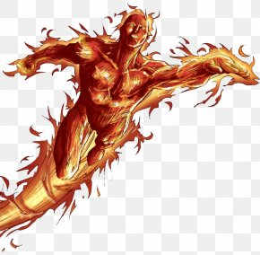 Human Torch Photo - Human Torch Mister Fantastic Invisible Woman PNG