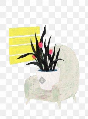 Pot Of Tulips - Tulip Flowerpot Illustration PNG