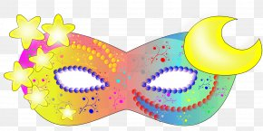 Colorful Fantasy Mask - Halloween Costume Mask Masquerade Ball Clip Art PNG