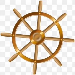 Boat Wheel Transparent Clip Art Image - Ship's Wheel Anchor Steering Wheel Clip Art PNG