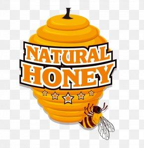 Vector Bee Yellow Honeycomb Seal Sticker Label - Bee Euclidean Vector Honeycomb PNG
