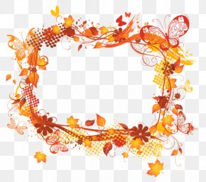 Autumn Leaves Border - Picture Frame Autumn Clip Art PNG