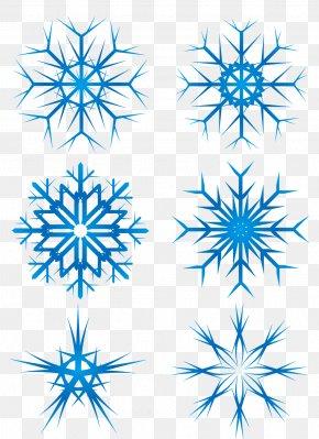 Blue Snowflake - Snowflake Winter Euclidean Vector PNG