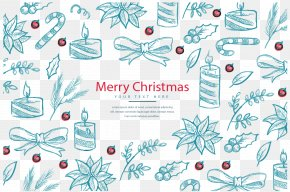 Hand Drawn Christmas Elements - Christmas Stocking Christmas Tree PNG