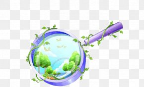 Purple Magnifying Glass - Magnifying Glass Illustration PNG