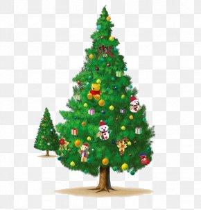 Two Christmas Tree - Christmas Tree Clip Art PNG