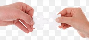 Hand Connects Two Puzzle Pieces - Partnership Business Company Law Firm PNG