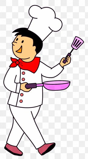 Cooking - Chef Cooking Italian Cuisine Clip Art PNG