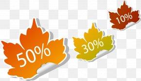 Autumn Sale Promotional Tag - Euclidean Vector Label Autumn PNG