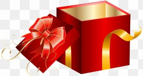 Opened Red Gift Box Clipart Image - Gift Box Stock Photography Clip Art PNG