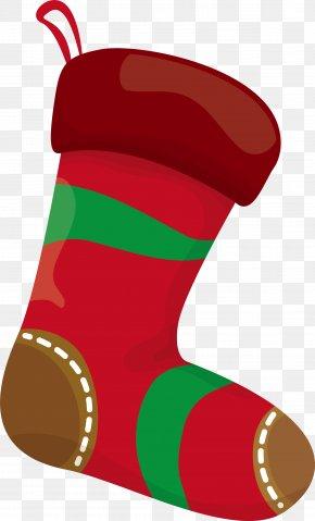 Christmas Red Socks - Christmas Stocking Sock Clip Art PNG