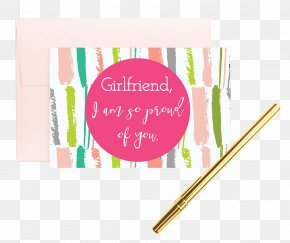 Pink Greeting Cards - Rectangle Pink M Font PNG