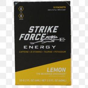 Lemon Cocktail - Strike Force 10 Energy Brand Font PNG