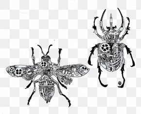 Creative Mechanical Insects Picture Material - Artist Drawing Steampunk Illustration PNG