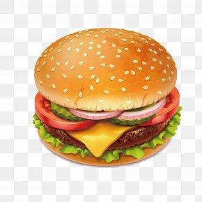 Delicious And Attractive Burger - Hamburger Cheeseburger Slider Veggie Burger Onion Ring PNG