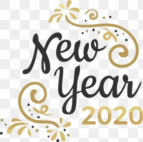 Calligraphy Text - Happy New Year 2020 New Years 2020 2020 PNG