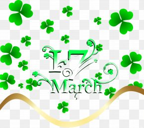 Saint Patrick's Day - Saint Patrick's Day Holiday Clover Clip Art PNG
