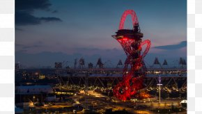 Building At Dusk - ArcelorMittal Orbit London Stadium 2012 Summer Olympics Building Architecture PNG