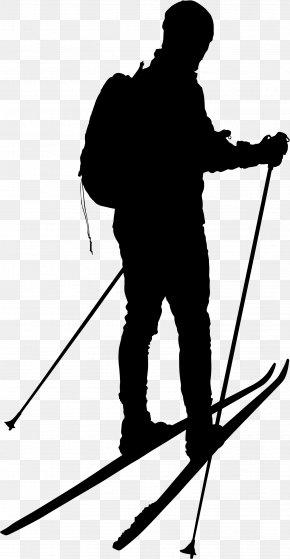 M Angle Point Line - Ski Poles Black & White PNG