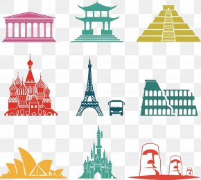 World Famous Landmarks Illustrations - Monument Photography Icon PNG
