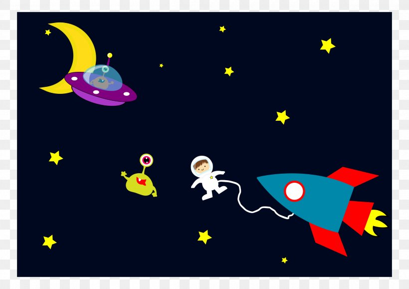 Astronaut Outer Space Rocket Clip Art, PNG, 2400x1697px, Astronaut, Area, Art, Cartoon, Extraterrestrial Life Download Free