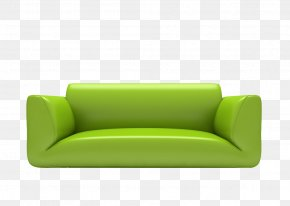 Green Sofa - Sofa Bed Rectangle Furniture PNG