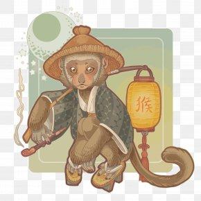 Vector Zodiac Monkey - Monkey Euclidean Vector PNG