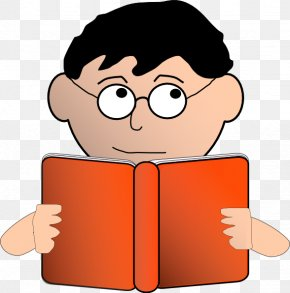 Student Studying Clipart - Reading Free Content Child Book Clip Art PNG