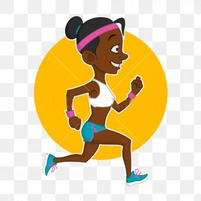 Cartoon Running Woman - Royalty-free Euclidean Vector Illustration PNG