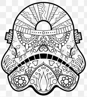 Stormtrooper - Calavera Day Of The Dead Coloring Book Death Coloring Pages For Adults PNG