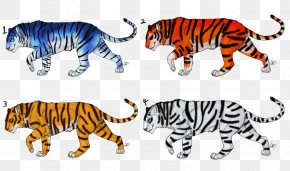 Tiger - Tiger Cat Terrestrial Animal Clip Art PNG