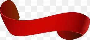 Hand Painted Red Ribbon Ribbon - Goggles Red PNG