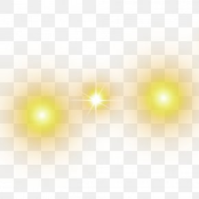 Yellow Faint Halo Effect Elements - Light Yellow Computer Pattern PNG