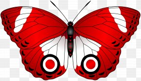 Red Butterfly Transparent Clip Art Image - Butterfly Red Clip Art PNG