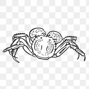 Hand Painted,crab - Crab Download Black And White Clip Art PNG