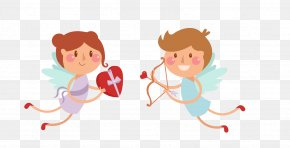 Cupid Angel - Cupid Euclidean Vector Arrow Icon PNG