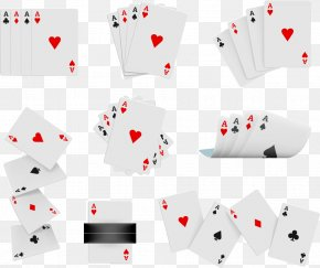 Vector Messy Cards - Euclidean Vector Playing Card Illustration PNG