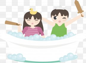 Bubble Bath Vector - Download Euclidean Vector Illustration PNG
