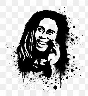 Bob Marley - Bob Marley T-shirt Aerosol Paint Stencil PNG